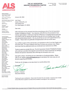 2015 ALS Thank You Letter