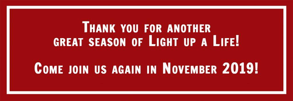 Christmas Light Fight 2019.Light Up A Life